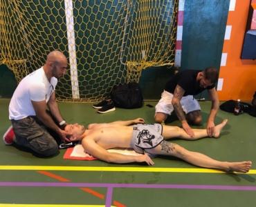 Massage vor dem Tournier
