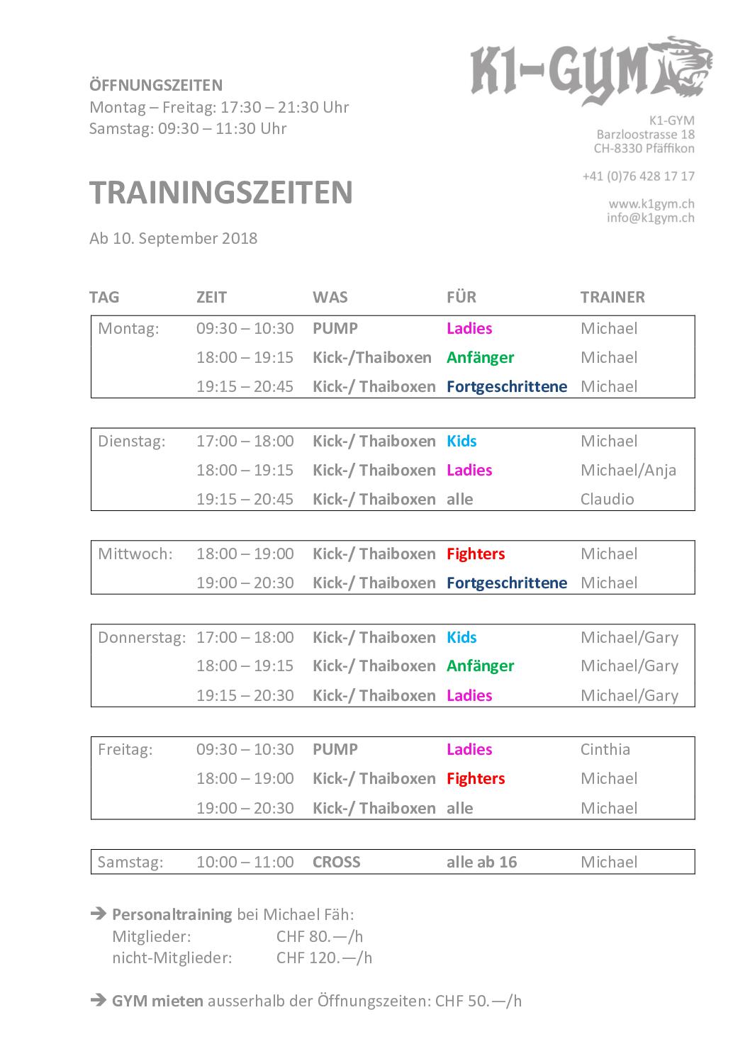 Neuer Trainingsplan für mehr Qualität